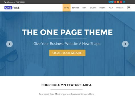 wordpress theme different page layout 30 best free one page wordpress themes 2016 athemes