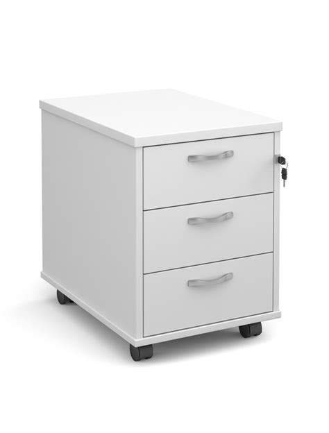 white office desk with drawers mobile pedestal 3 drawer r3m 121 office furniture