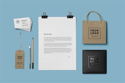 Brand Identity Mockup Psd Template Download Psd Branding Package Template