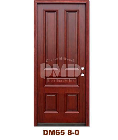 Exterior Door Ratings Dm65 5 Panel Contemporary Exterior Wood Mahogany Door 8 0 Door And Millwork Distributors Inc