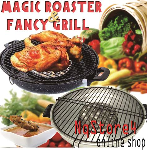 Alat Pemanggang Griller Maspion Magic Roaster jual alat pemanggang grill bbq maspion 34 cm magic roaster nqstore48