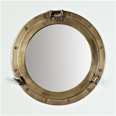 nautical brass porthole mirror traditional wall