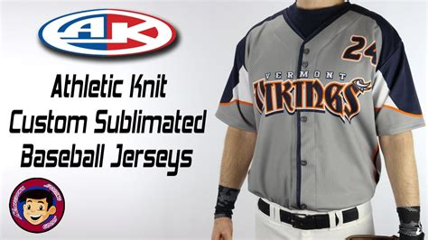 Custom Sublimated Baseball Jerseys Athletic Knit