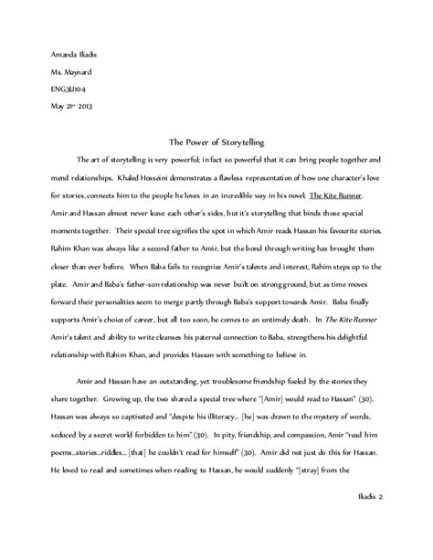11th Grade Essay Topics by Kite Runner Essay Grade 11