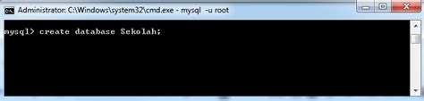 membuat database mysql di command prompt perintah dasar mysql dengan command prompt blog sharing