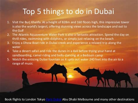 5 Things To About by Top 5 Things To Do In Dubai