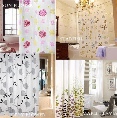 Promo Tirai Kamar Mandi Anti Air Flower Sudah Dilengkapi Pemgait Mur jual shower curtain tirai pintu kamar mandi anti nyamuk