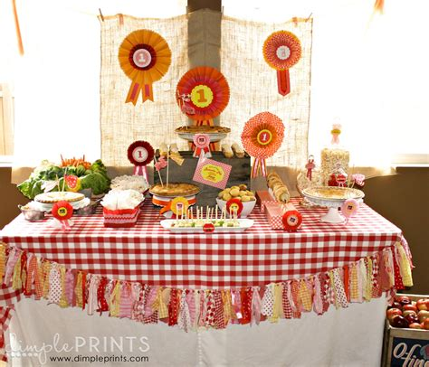 Homes Decorated For Fall county fair birthday dimple prints