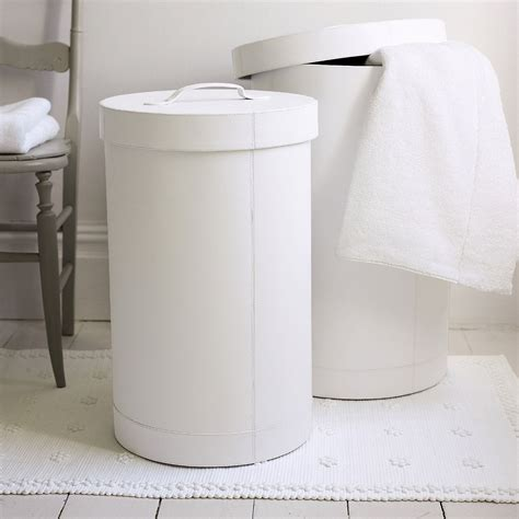The White Company Bathroom Accessories by White Leather Laundry Bins Bathroom Accessories The