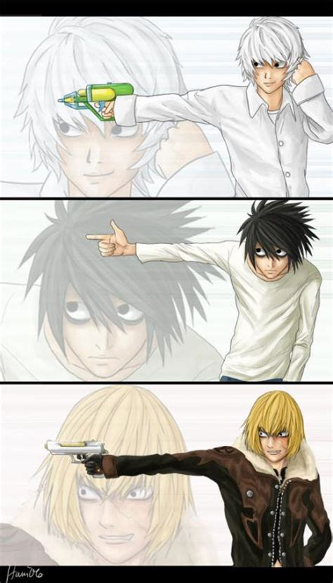 N Anime M by For Free Lawliet Mello Near Note