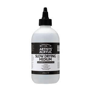 acrylic paint on canvas drying time winsor newton drying medium