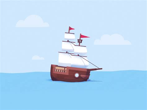 sailing boat animated gif animation boat gif by eyedesyn find share on giphy