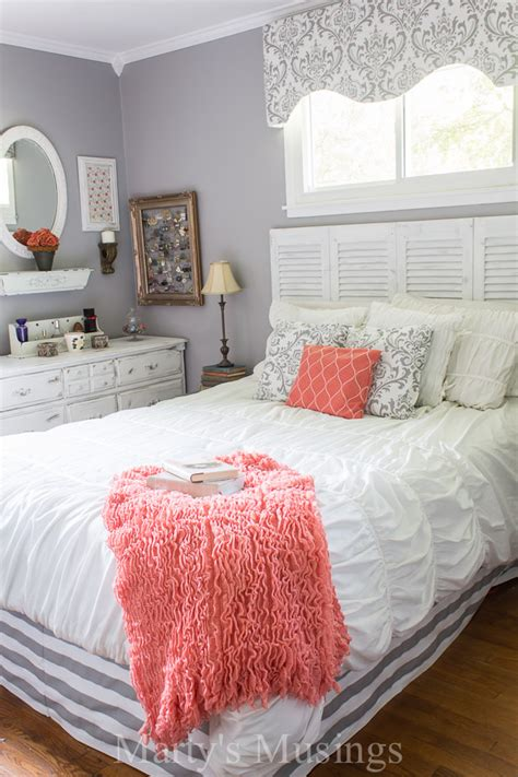coral and gray bedding teen girl bedding that will totally transform with the