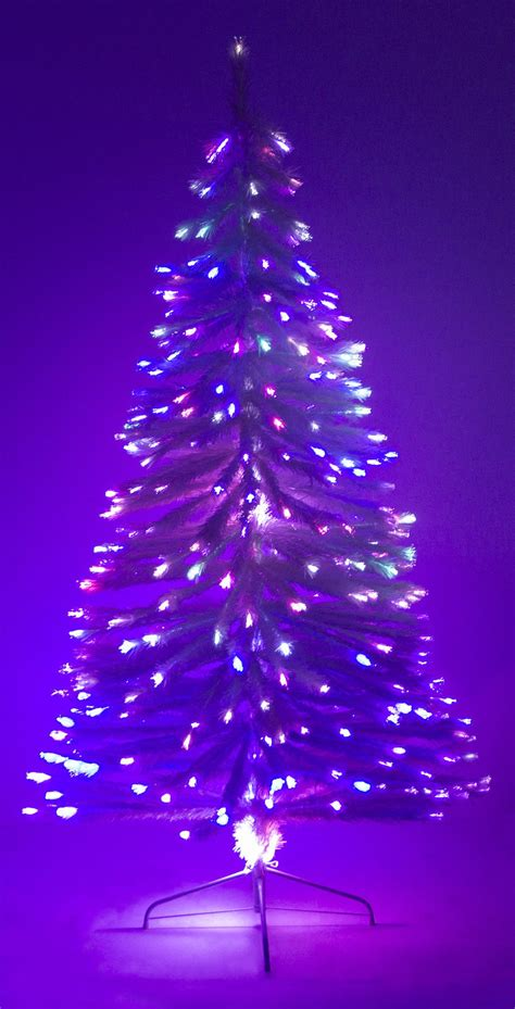 white fibre optic christmas tree 6 ft white artificial tree w fiber optic multi colored light