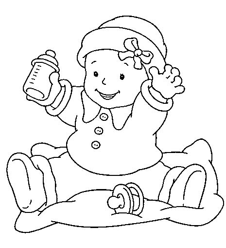 Coloring Baby Learn To Coloring Newborn Baby Coloring Pages Free