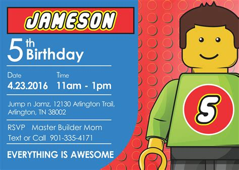 lego birthday card template free lego birthday invitations bagvania free printable
