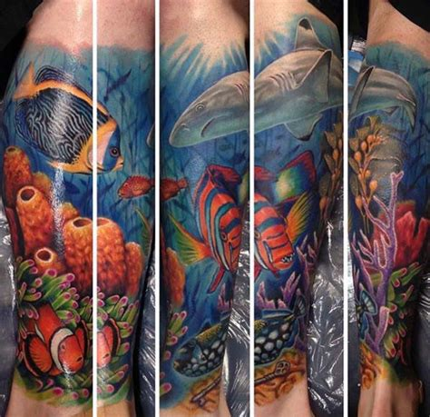 ocean sleeve tattoo designs 40 sleeve tattoos for underwater ink design ideas