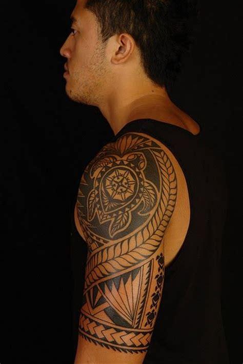 polynesian turtle tattoo designs polynesian turtle half sleeve tattoos
