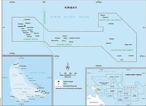 map of kiribati islands inventory of conflict and environment kiribati
