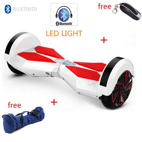 8 inch led bluetooth remote smart self balancing electric scooter hover board smart balance
