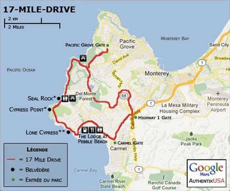 pebble california map best 99 ca 17 mile drive images on travel
