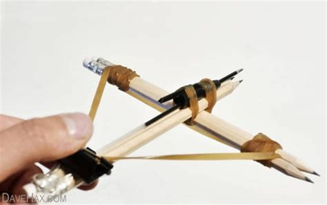 how to make a cheap crossbow with office supplies