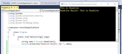 console writeline code code difference between readline read readkey