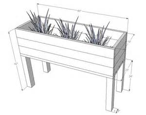 elevated planter box plans plans diy free jewelry