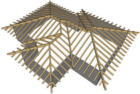 tetto a padiglione in legno la struttura portante