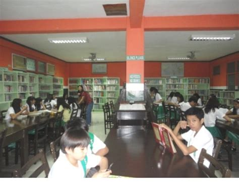 different sections of library about the library baliuag university library