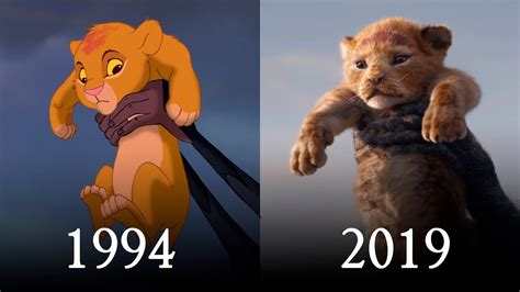 lion king    official teaser comparison