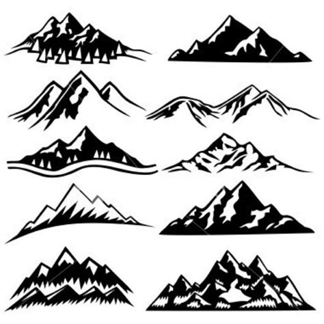 mountain silhouette tattoo mountain ranges cravings mountain