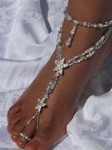 Barefoot Sandals Foot Jewelry Beach Wedding Barefoot