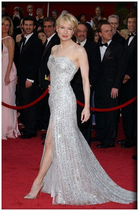 renee zellweger red carpet renee zellweger in carolina herrera 80th academy awards