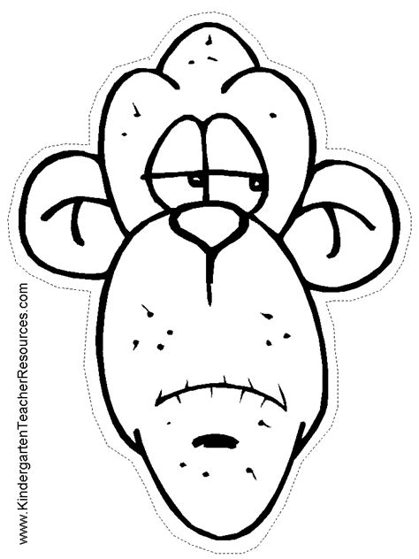 printable mask monkey monkey worksheets and coloring pages