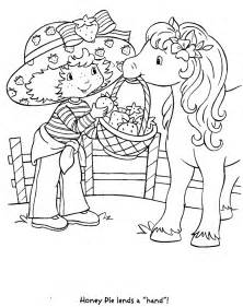 vintage strawberry shortcake coloring pages coloring