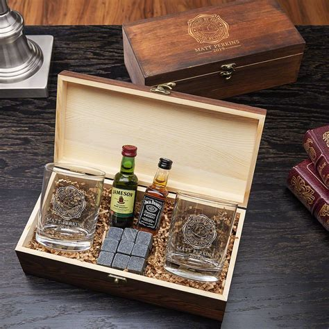 Fueled by Fire Custom Whiskey Gift Set ? Firefighter Gift