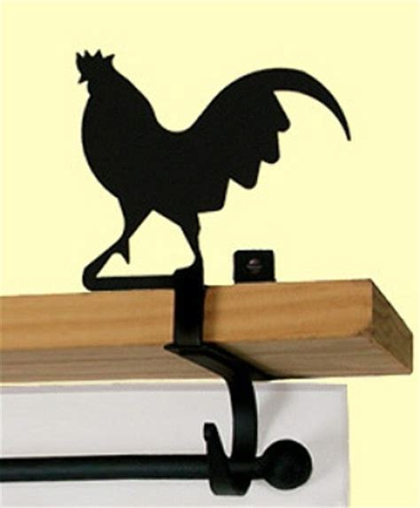 rooster curtain rod kitchen rooster curtain rod shelf brackets pair