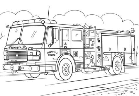 rescue truck coloring page fire truck coloring page free printable coloring pages