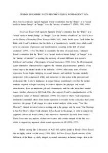 Sigmund Freud Essays by College Essays College Application Essays Research Paper On Sigmund Freud