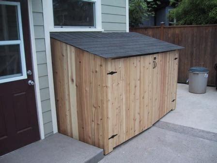 recycling bin shed deck masters llc portland or