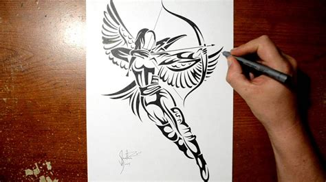free tattoo games drawing katniss from hunger tribal design