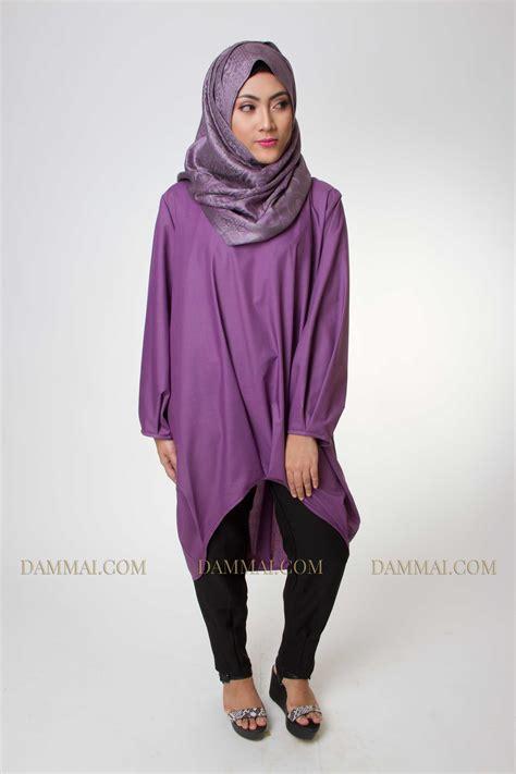 Gamis Muslim Aresya Dress edgy purple tunik muslim dammai