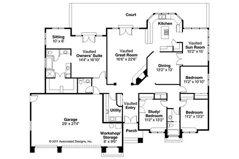 southwest floor plans southwest house plans cibola 10 202 associated designs