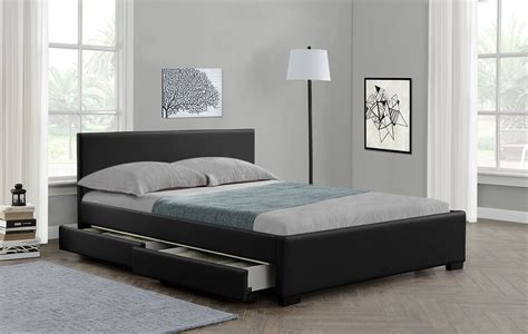 King Size Bed With Drawers by 4 Drawers Storage Bed Or King Size Faux Leather
