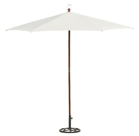 White Patio Umbrella Essential Garden Wood Market Umbrella White 9ft Outdoor Living Patio Furniture Patio