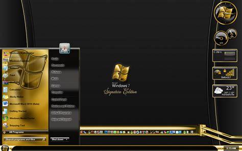 gold xp themes download windows 7 signature edition mega theme pack windows 7