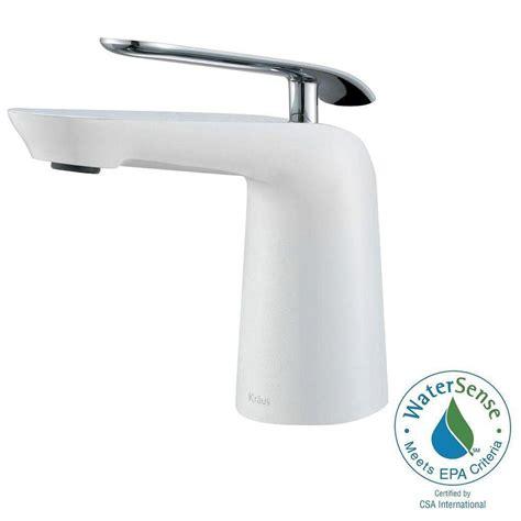 Kraus Seda Single Hole Single Handle Basin Bathroom Faucet White Bathroom Faucet