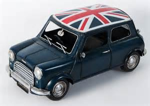 Mini Cooper Union Roof Union Roof Blue Mini Cooper 1960 Scale Model