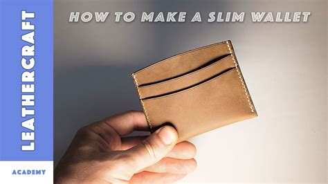 how to make a card wallet how to make a slim wallet card holder in leather leather
